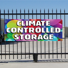 Climate Controlled Storage Banner - Balloons