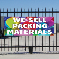 We Sell Packing Materials Banner - Balloons