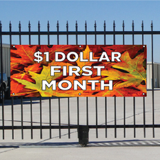 One Dollar First Month Banner - Fall