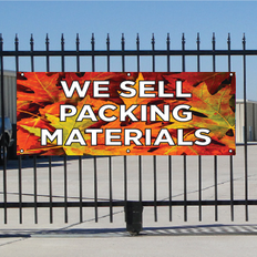 We Sell Packing Materials Banner - Fall