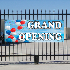 Grand Opening Banner - Balloons Sky
