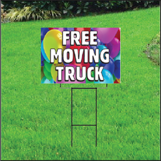 Free Moving Truck Self Storage Sign - Balloons