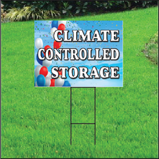 Climate Controlled Self Storage Sign - Balloon Sky