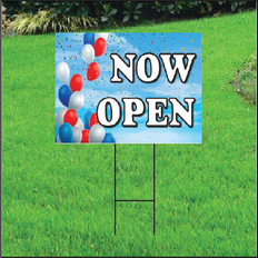 Now Open Self Storage Sign - Balloon Sky