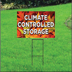 Climate Controlled Self Storage Sign - Fall