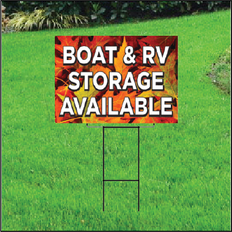 Boat & RV Storage Self Storage Sign - Fall