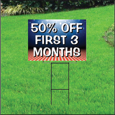 50 Percent Off First Three Months Sign Self Storage - Patriotic