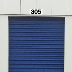 Self Storage Unit and Door Number Plaques