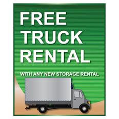 Free Truck Rental Sign