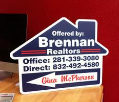 Open House Arrow Sign - Brennan Realtors