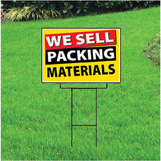 We Sell Packing Materials Sign - Festive