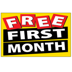 Free First Month Sign - Festive