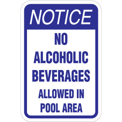 """No Alcoholic Beverages Sign - 12"""" x 18"""""""