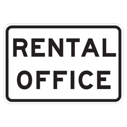 """Rental Office Sign - 9"""" x 12"""""""