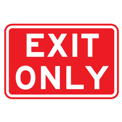 """Exit Only Sign - 9"""" x 12"""""""