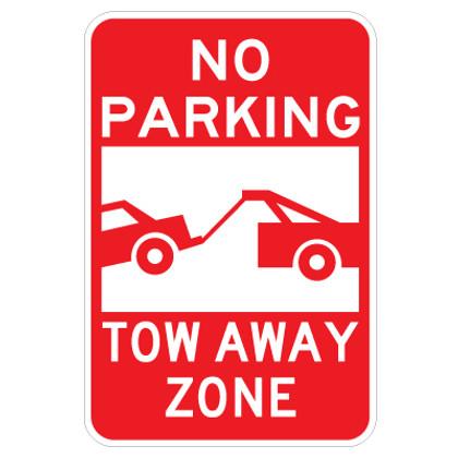 "No Parking Tow Away Zone - 12"" x 18"""