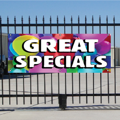 Great Specials Banner - Balloons