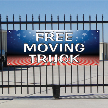 Free Moving Truck Banner - Patriotic