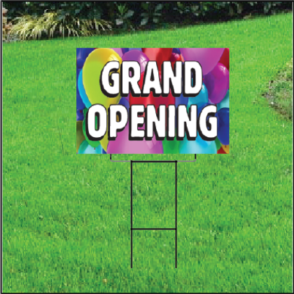 Grand Opening Self Storage Sign - Balloons