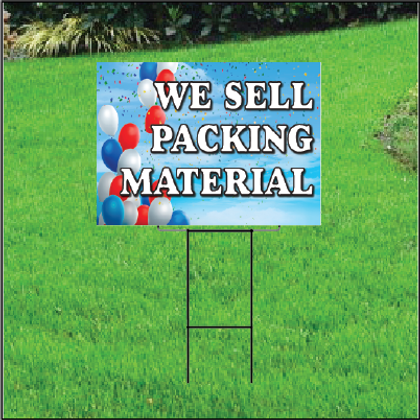 We Sell Packing Materials Self Storage Sign - Balloon Sky