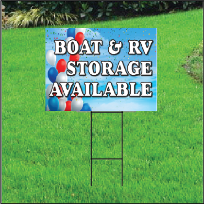 Boat & RV Storage Self Storage Sign - Balloon Sky