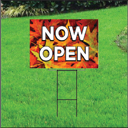 Now Open Self Storage Sign - Fall