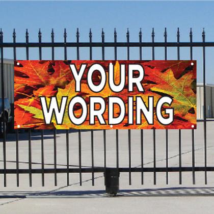 Semi Custom Banner - Fall