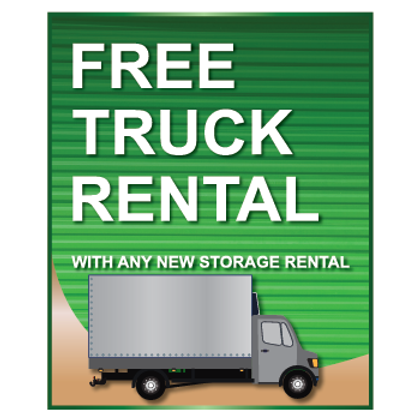 Free Truck Rental Sign