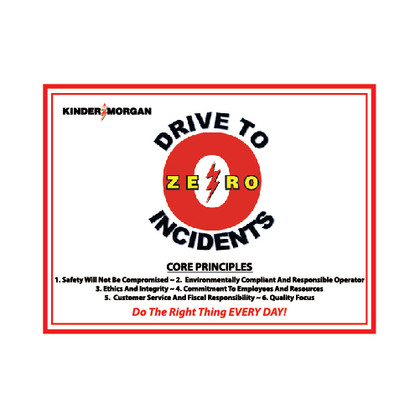 Drive to Zero Incidents Banner - 3' x 4'