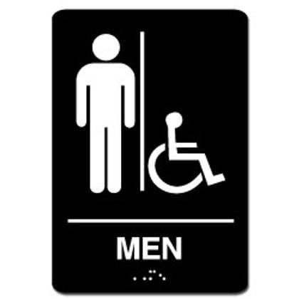 Men's Handicap ADA Restroom Sign