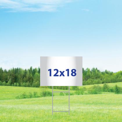 "12"" x 18"" Yard Signs - Single Sided"