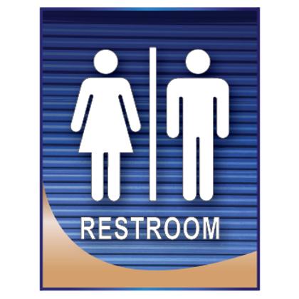 Men's and Women's Restroom Sign