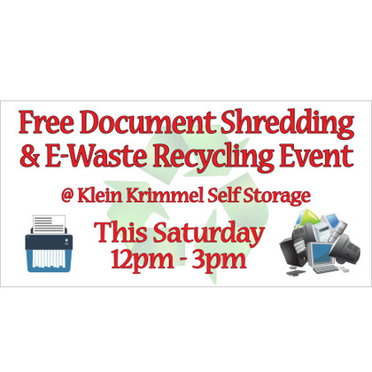 Free Document Shredding Banner