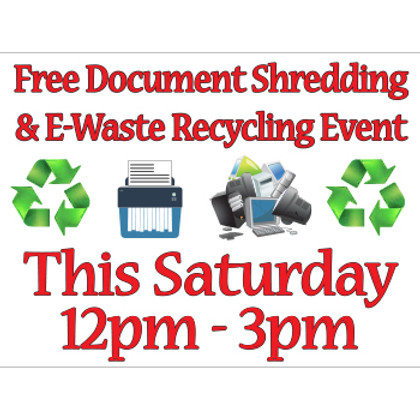 Free Document Shredding Yard Signs