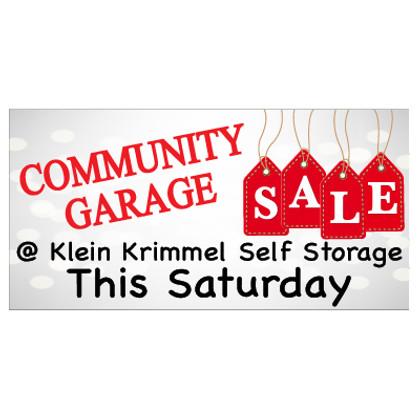 Community Garage Sale Banner
