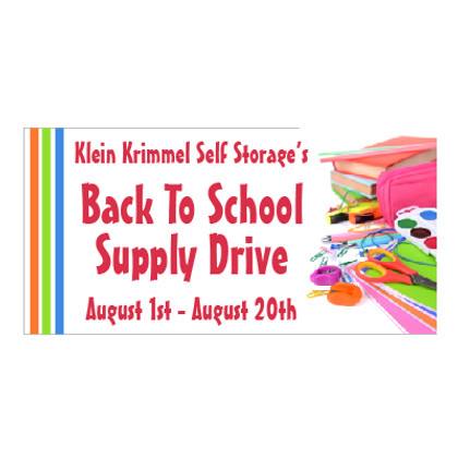 Back to School Supply Drive Banner