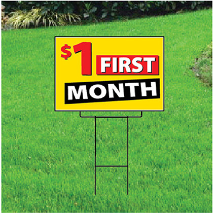 One Dollar First Month Sign - Festive