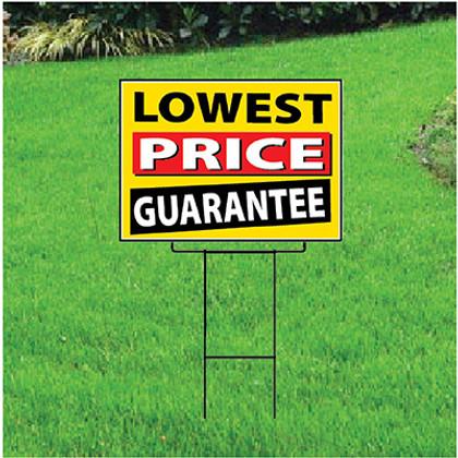 Lowest Price Guarantee Sign - Festive