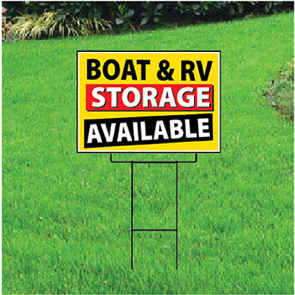 Boat & RV Storage Available Sign - Festive