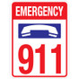 "Emergency 911 Sign - 18"" x 24"""