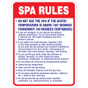 """Spa Rules Sign - 18"""" x 24"""""""