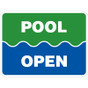 """Pool Open Sign - 18"""" x 24"""""""