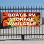 Boat & RV Storage Available Banner - Fall