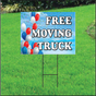 Free Moving Truck Self Storage Sign - Balloon Sky