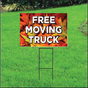 Free Moving Truck Self Storage Sign - Fall