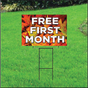 Free First Month Sign for Self Storage - Fall
