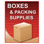 Boxes and Packing Supplies Sign