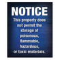 No Hazardous Materials Sign