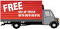 Free Use of Our Truck with Rental Sign
