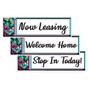 Black Flowers  Apartment Banners